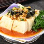 ピータンと豆腐の和え物