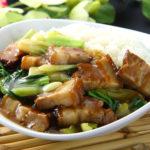 豚バラ肉のあんかけご飯